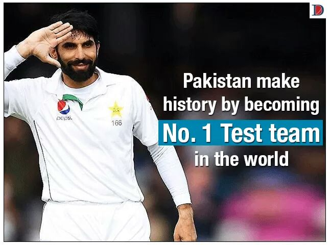 Hafeez (Professor) and India's major contribution in lifting Pakistan on top in the Test ranking..