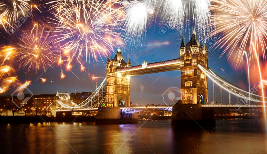 London Eye fireworks. NewYear night 2017 (free tickets)