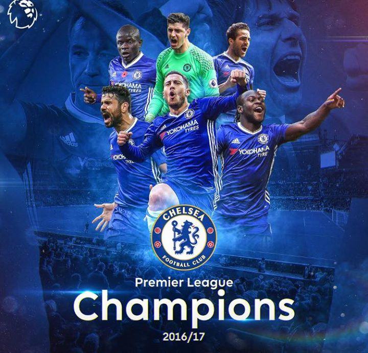 Managers reaction on Chelsea lifting trophy2016/17