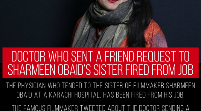 Making sure to defame Pakistan, Nobel award holder Sharmeen on crictics