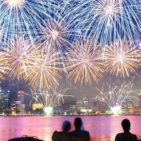 Spectacular scenes observed from around the world amid New Year 2018