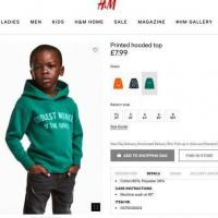 H&M (British clothing brand) under the severe critics