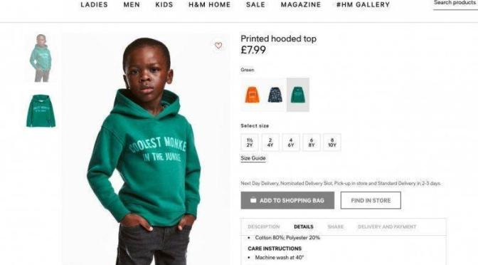 H&M (British clothing brand) under the severe critics