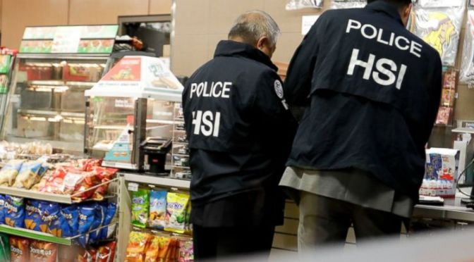 Immigration agents descend in 7 eleven stores in hunt of illegal working individuals: 100 Stores under raid