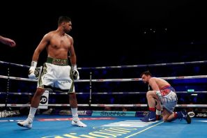 Amir Khan blown him away in just 40 seconds