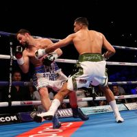 Incredibly, the action was all over in less than a minute. Amir vs Phill in Liverpool
