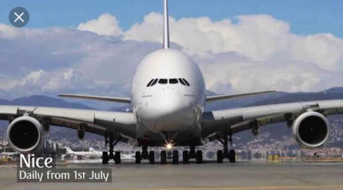 Emirates A380 World's Largest landed at this airport for the first time.