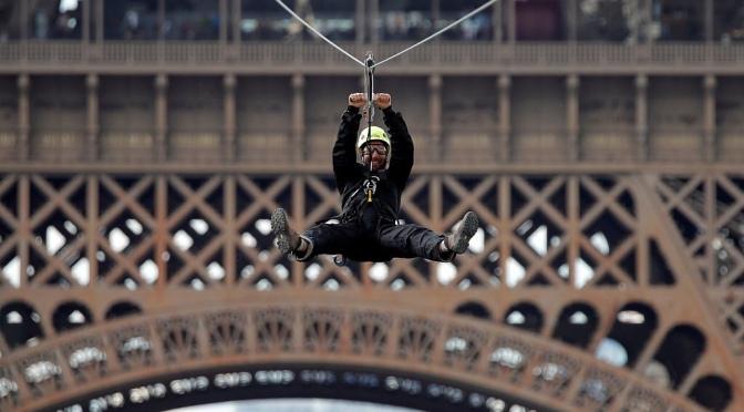 Zipline from Eiffel Tower