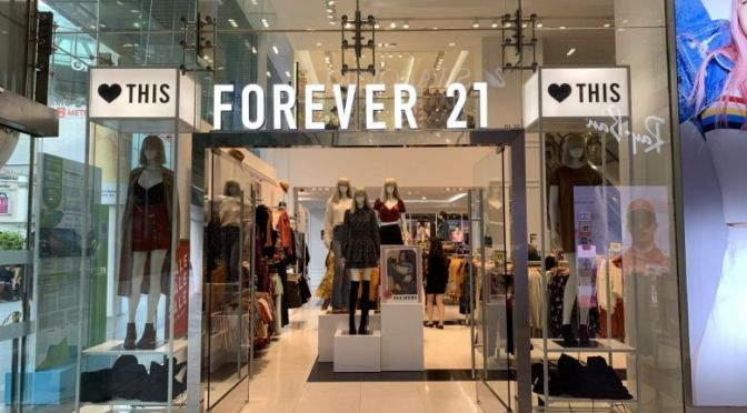 US Retail, Forever 21 could not survive in Europe and Asia