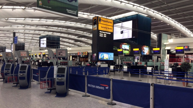London, all flights cancelled due to pilots strike at Heathrow Airport